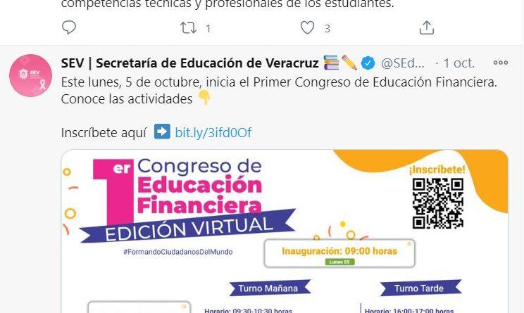 """Invitan a participar al """"Primer Congreso de Educación Financiera"""", edición virtual"""